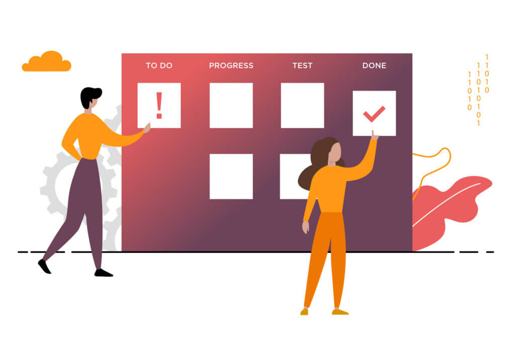 agile board illustration